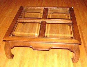 314: Coffee Table with beveled glass tiles - 2