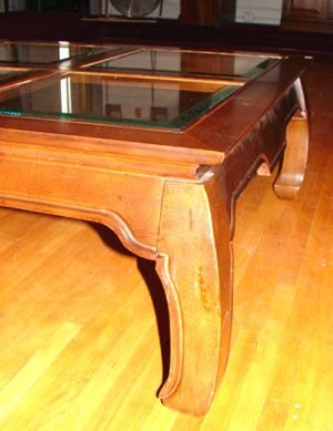 314: Coffee Table with beveled glass tiles - 3