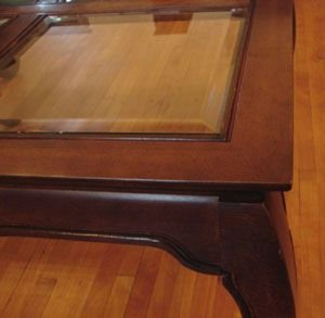 314: Coffee Table with beveled glass tiles - 4