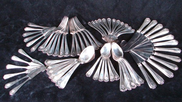 1017: 58 pcs Reed & Barton Sterling Silver Flatware. He