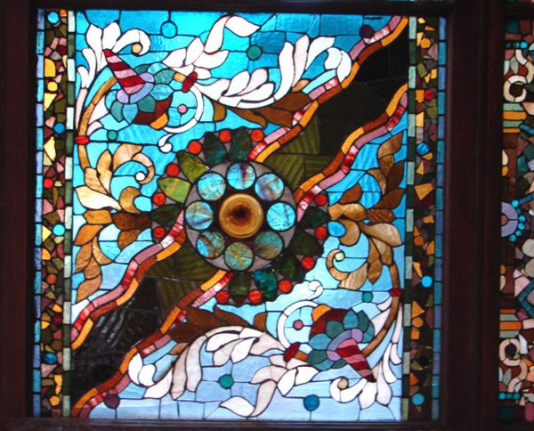 1200: Belcher Mosaic Stained Glass Window. American Aes - 2