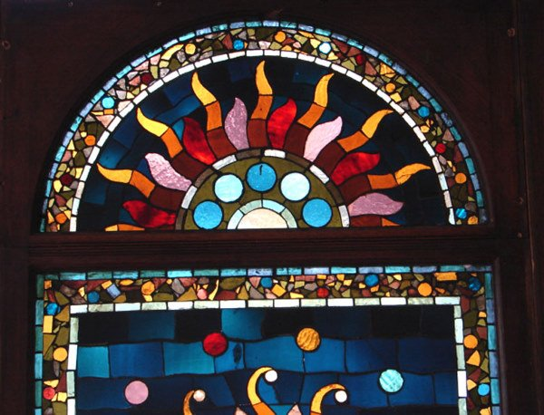 1200: Belcher Mosaic Stained Glass Window. American Aes - 3