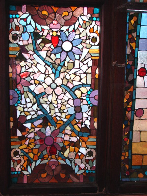 1200: Belcher Mosaic Stained Glass Window. American Aes - 5
