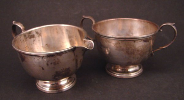 2011: Sterling Cream and Sugar. Each with hallmarks and