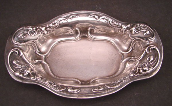 2015: R.W. & S Sterling Silver Dish with floral design.