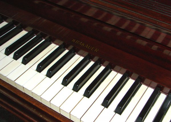 2249: Krakauer Upright Grand Piano with mahogany case a - 2