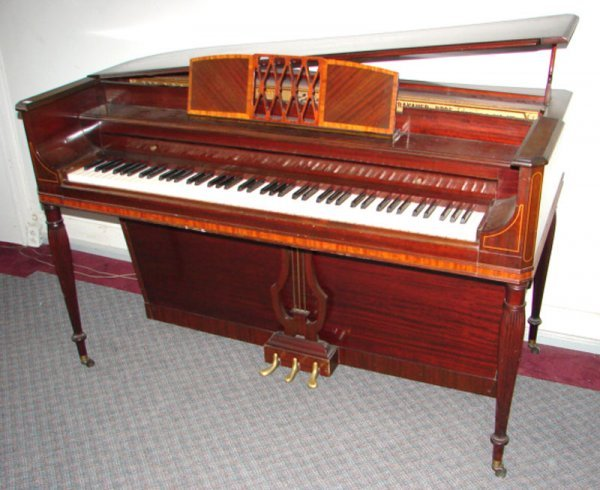 2249: Krakauer Upright Grand Piano with mahogany case a - 3