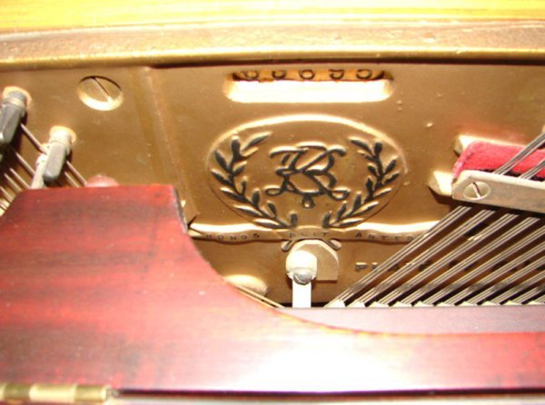 2249: Krakauer Upright Grand Piano with mahogany case a - 6