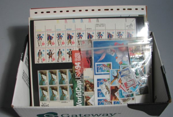 1004: Lot of U.S. Postage. Appx. $50.00