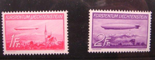 1005: Liechtenstein Airmails C15 and C16 MNH