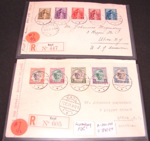 1007: Two Scarce FDC's from Luxenbourg Scott's B45-54,