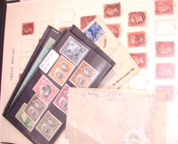 1013: Group of early Great Britain stamps plus some mod