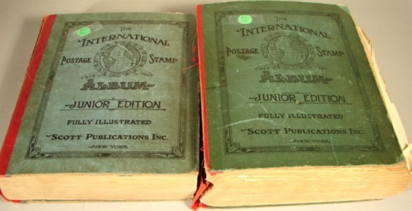 1017: Two International Postage Stamp Albums with quite