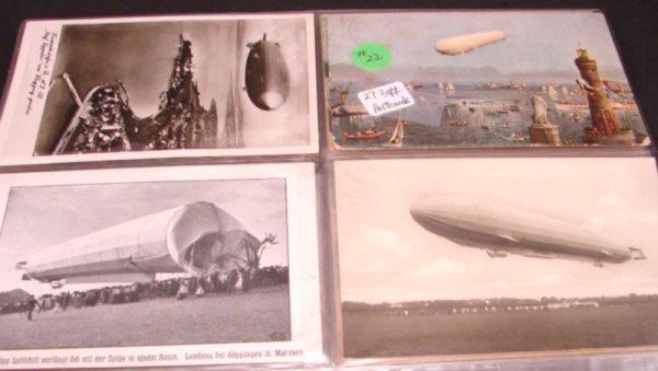 1022: 27 Graf Zeppelin Postcards.