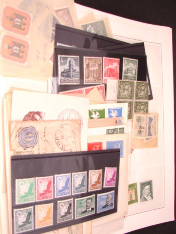 1023: Nice lot of mostly MHN German Stamps.