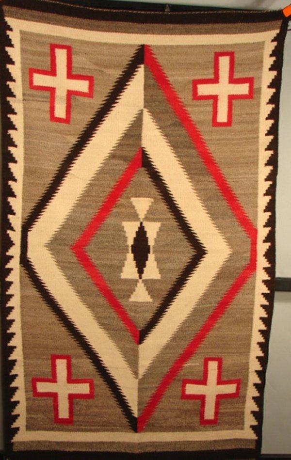 "53: Native American Navajo Rug / Blanket. 67 1/2"" x 40"""