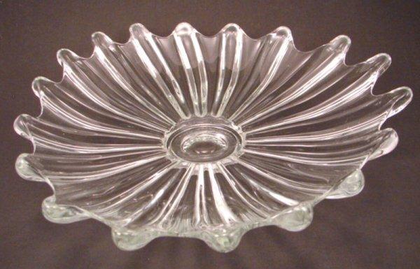 """1021: Modern Art Glass Center Bowl. 3""""h x 12 1/2"""""""