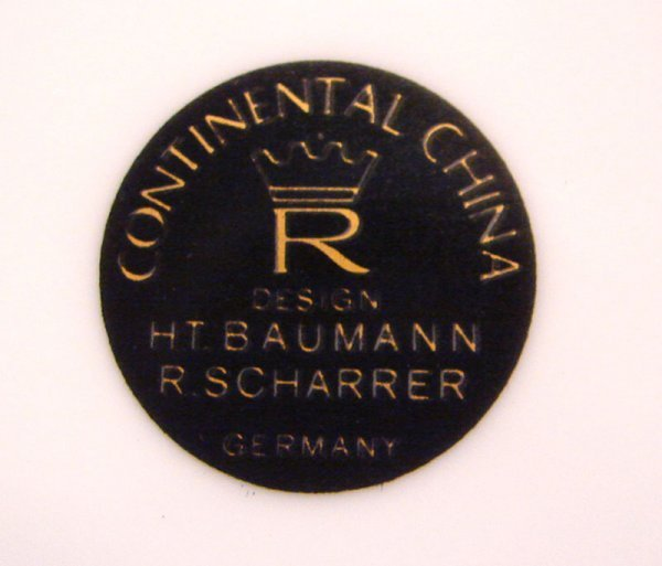 "1084: Rosenthal ""Continental China design H.T. Baumann  - 4"