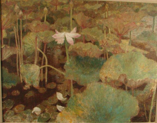 1219: Munakata Large Oil Painting