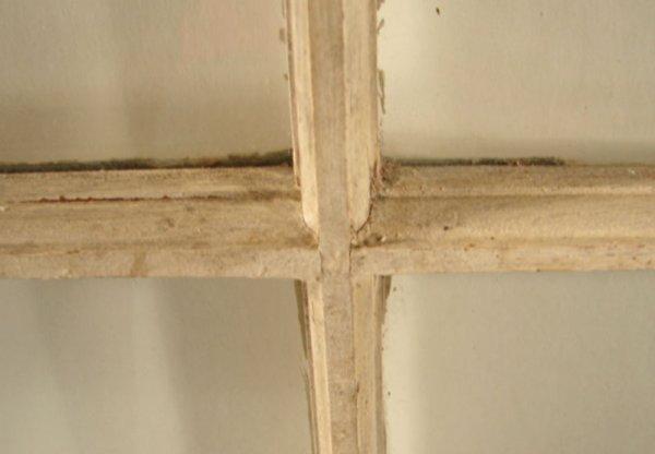 "1247: Six Pane Window with dried flower display. 28""h x - 2"