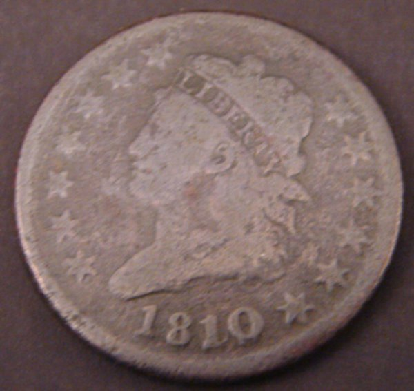 2203: 1810/9 Classic Head Large Cent. VG
