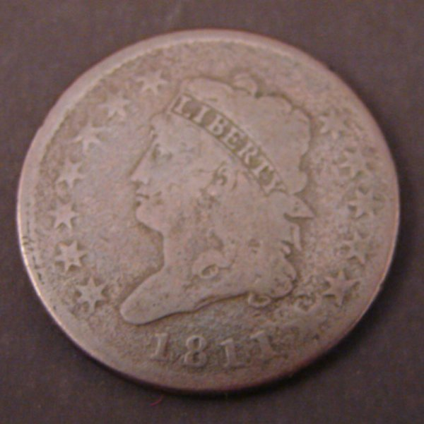 2204: 1811 Classic Head Large Cent. VG