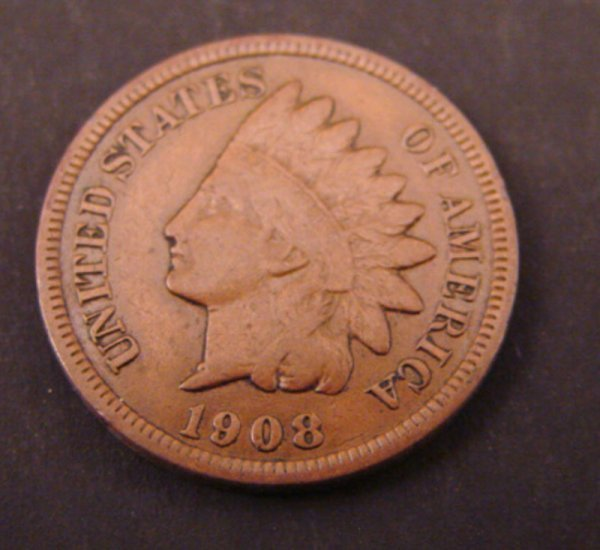 2212: 1908s Indian Head Cent. F