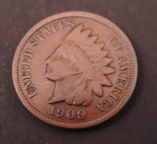 2213: 1909s Indian Head Cent. VG