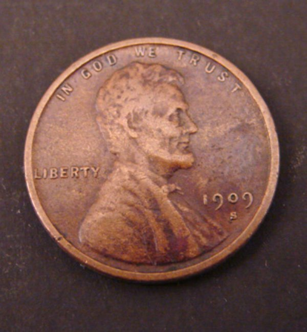 2215: 1909s Lincoln Cent. VF