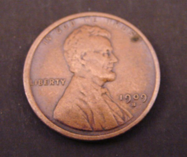2216: 1909s Lincoln Cent. VF (with an added VDB)
