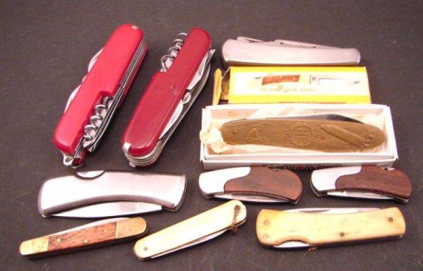 3001: 11 pieces Pocket / Folding Knives. Including 1982