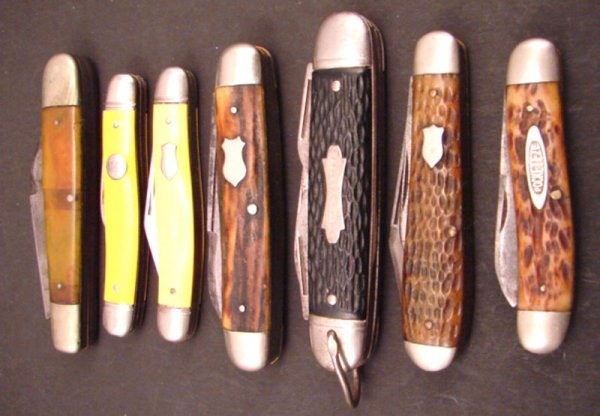 3007: Seven Pocket Knives including two Imperial (appro