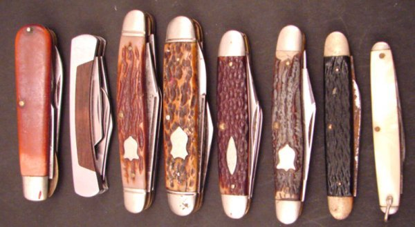 3012: Eight Misc Camillus Pocket Knives including 834 S