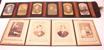 3142: Two Early Folding Photograph Holders including le
