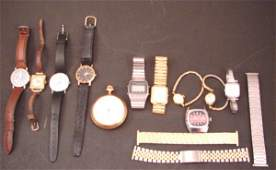 10 Vintage Wristwatches & Waltham Pocket watch, w