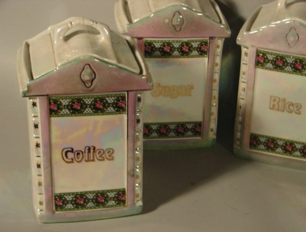 150: 11 pc German Mepoco ware Ceramic Canister Set. Los - 2