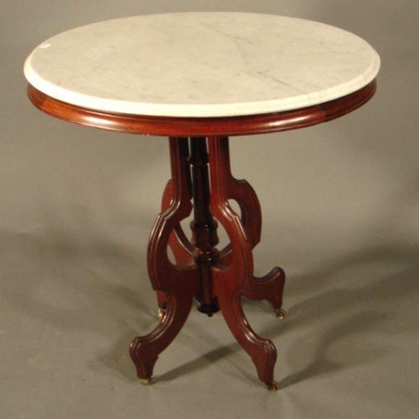 005A: Victorian mahogany marble top parlor table