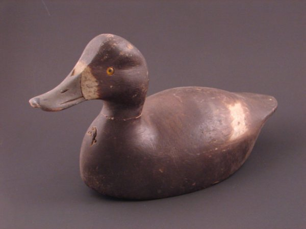 """903: Roy Conklin Duck Decoy. Approximately 6 1/2""""h x 12"""