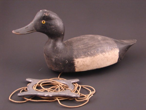 904: Roy Conklin Duck Decoy with plaque on bottom reads