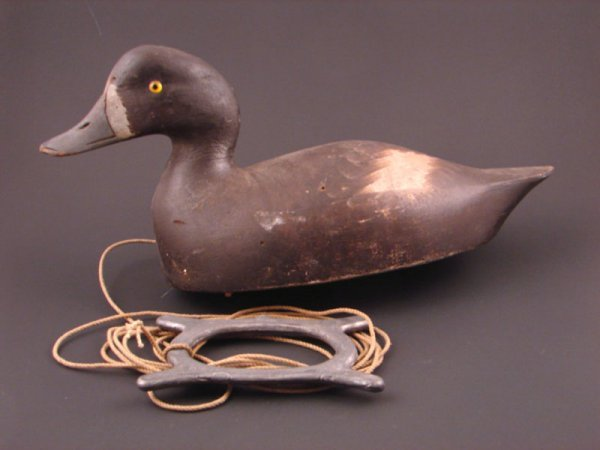 906: Roy Conklin Duck Decoy with plaque on bottom reads