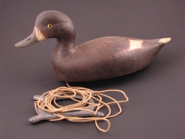 908: Roy Conklin Duck Decoy with plaque on bottom reads