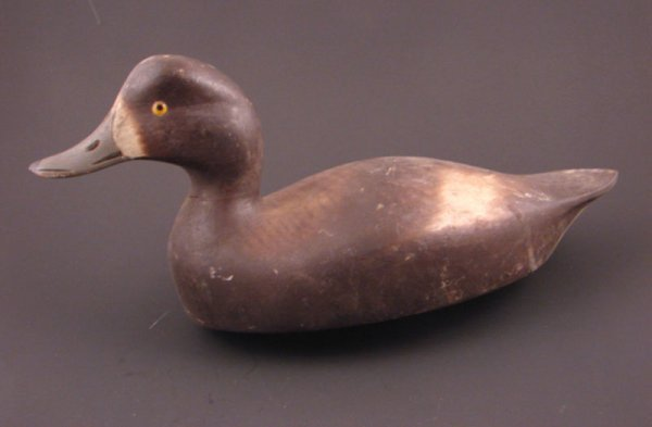 909: Roy Conklin Duck Decoy with plaque on bottom reads
