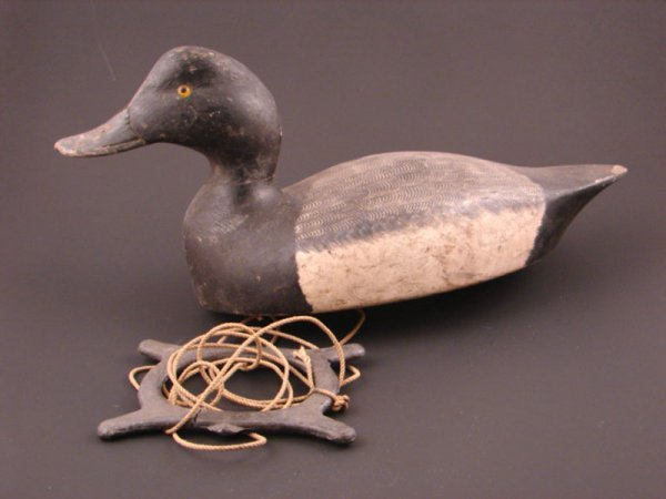 914: Roy Conklin Duck Decoy with plaque on bottom reads
