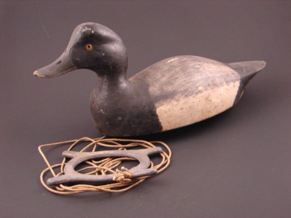 915: Roy Conklin Duck Decoy with plaque on bottom reads