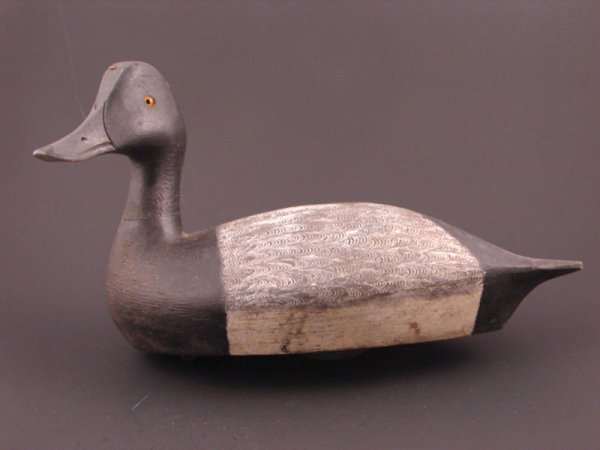 916: Roy Conklin Duck Decoy with plaque on bottom reads