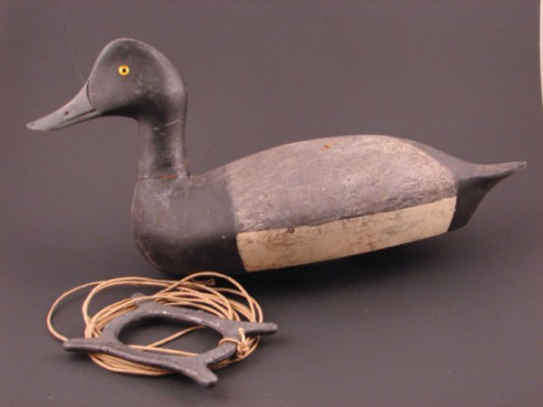 917: Roy Conklin Duck Decoy with plaque on bottom reads