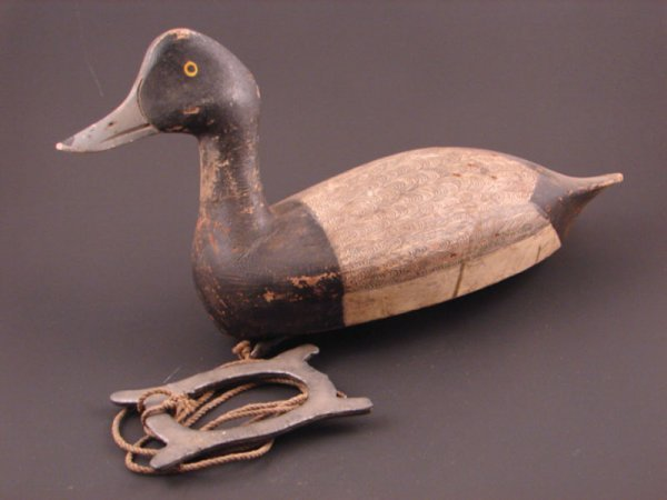 918: Roy Conklin Duck Decoy with plaque on bottom reads