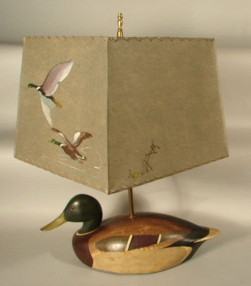 0901B: Ken Harris Decoy Coverted to a Lamp. Hole drille