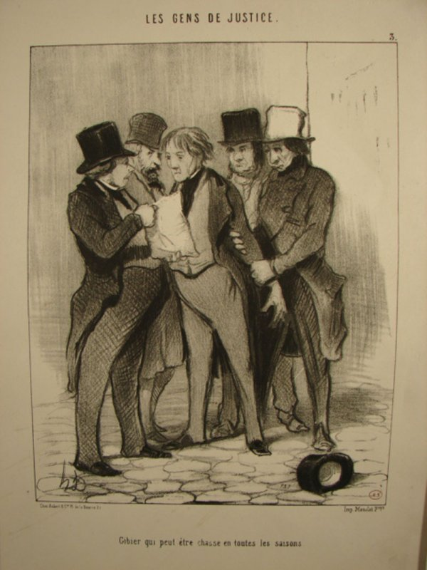3027: LD - Honore Daumier - Print