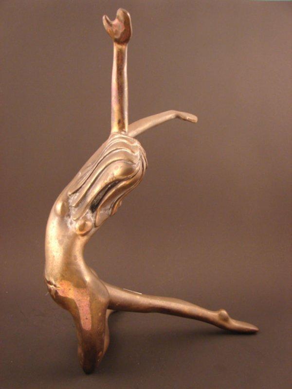 3029: Tom Bennett Signed Bronze Sculpture of Modern Dan